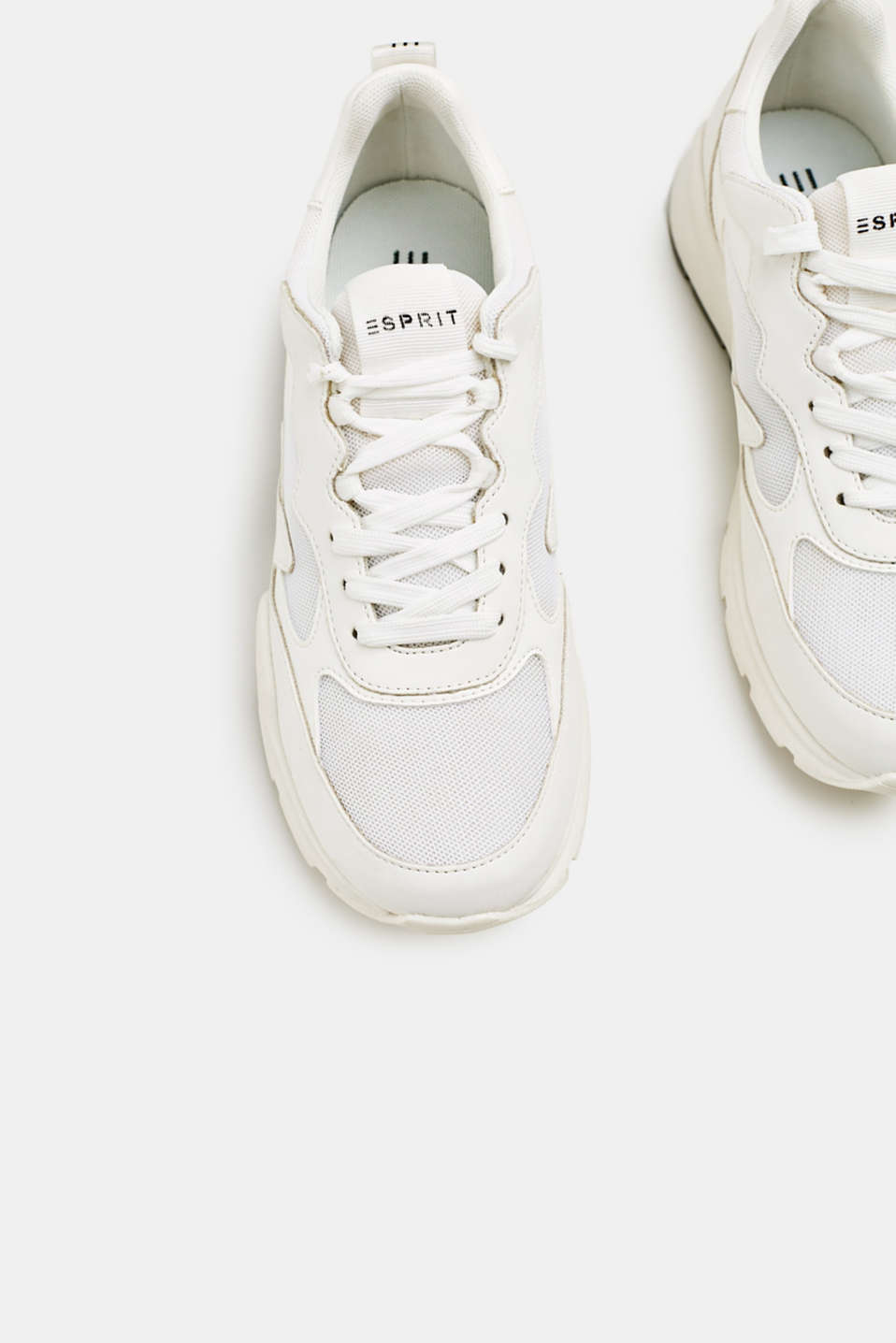 Trainers in a material mix, WHITE, detail image number 6