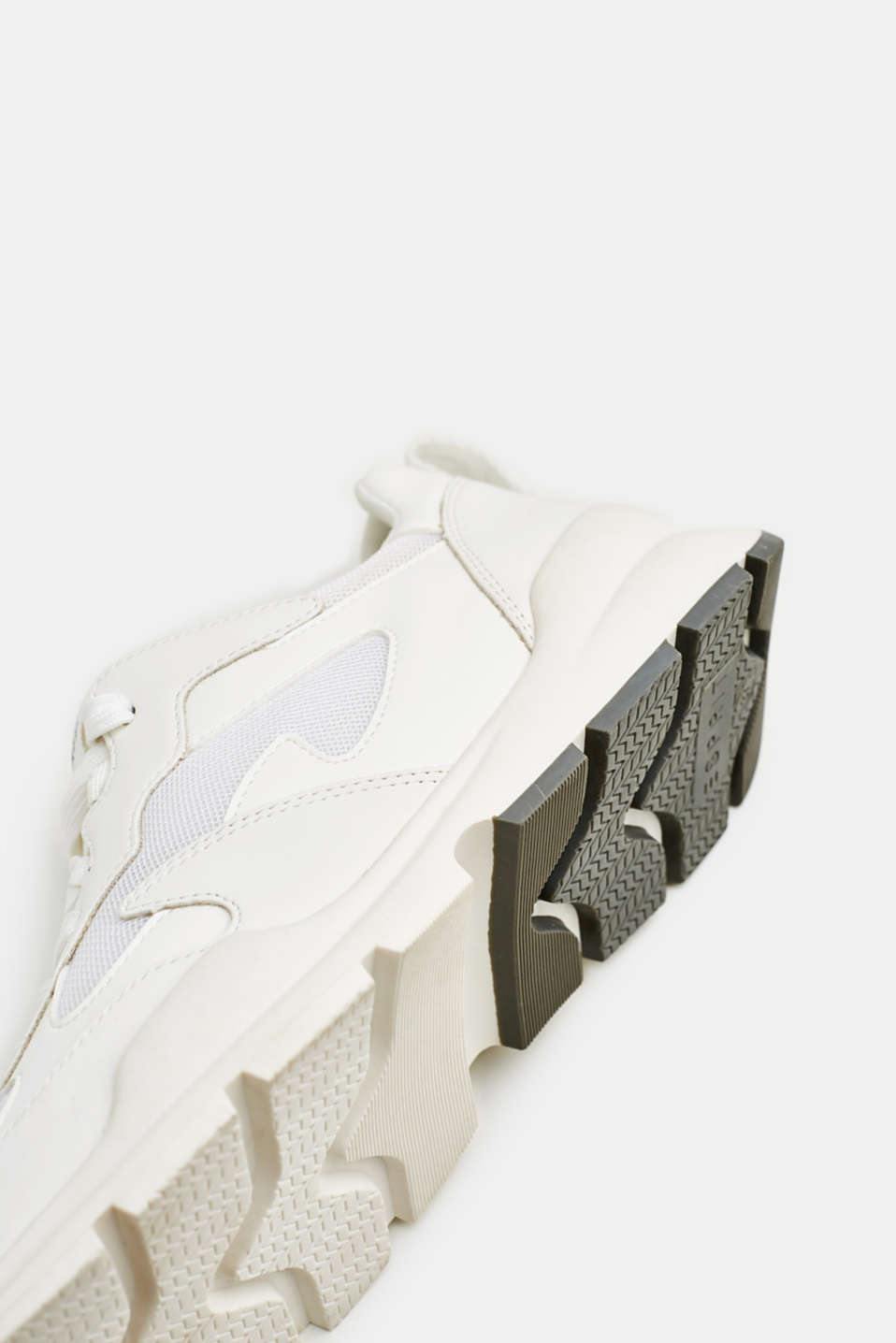 Trainers in a material mix, WHITE, detail image number 5