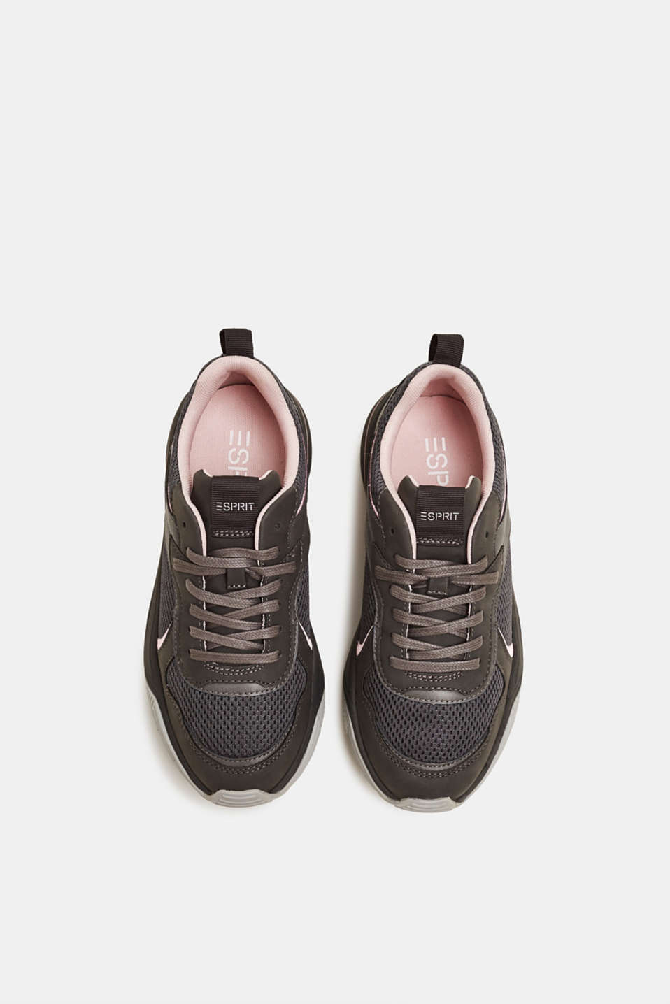 Chunky trainers in a material mix, GUNMETAL, detail image number 1