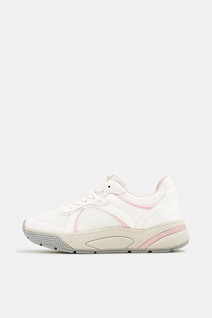 Chunky Sneaker mit Material-Mix, WHITE, detail image number 0