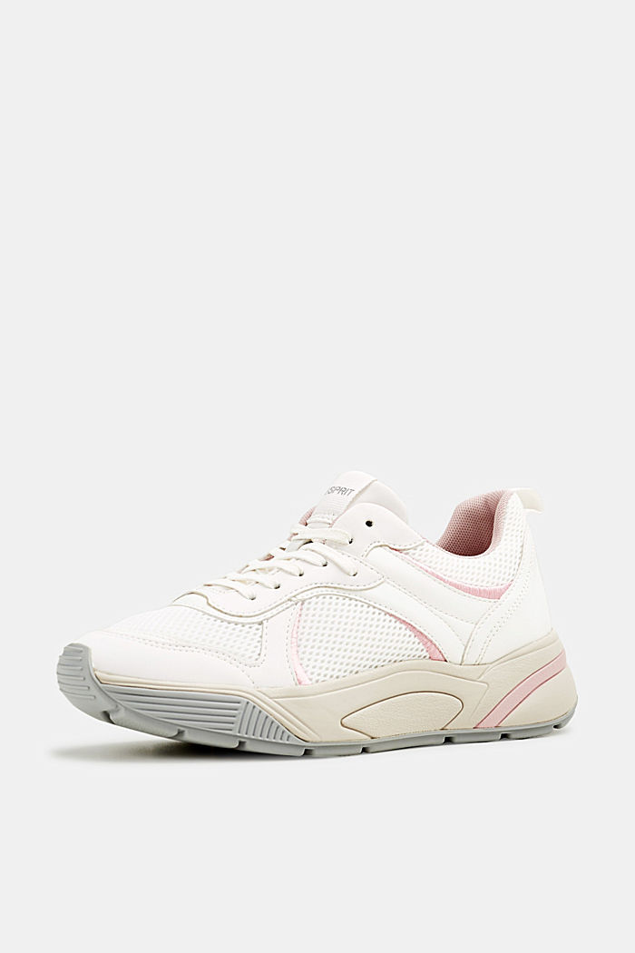 Chunky Sneaker mit Material-Mix, WHITE, detail image number 1