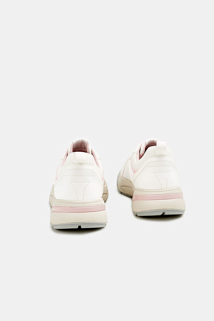 Chunky Sneaker mit Material-Mix, WHITE, detail image number 4