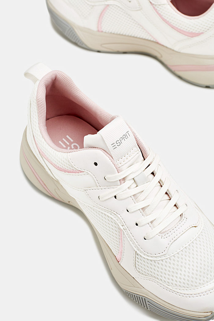 Chunky Sneaker mit Material-Mix, WHITE, detail image number 3