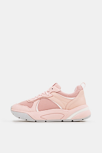 Chunky trainers in a material mix