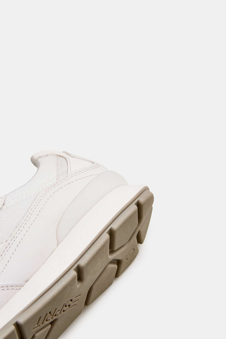 Retro material mix trainers, WHITE, detail image number 5