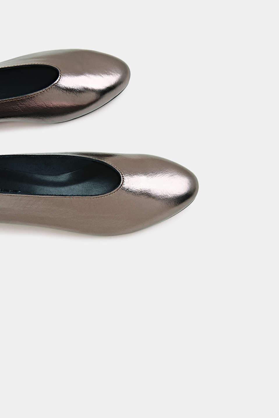 Leather ballerinas, TAUPE, detail image number 5