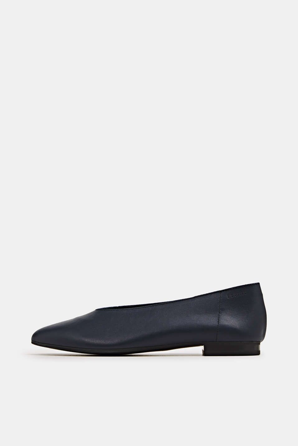 Leather ballerinas, NAVY, detail image number 0