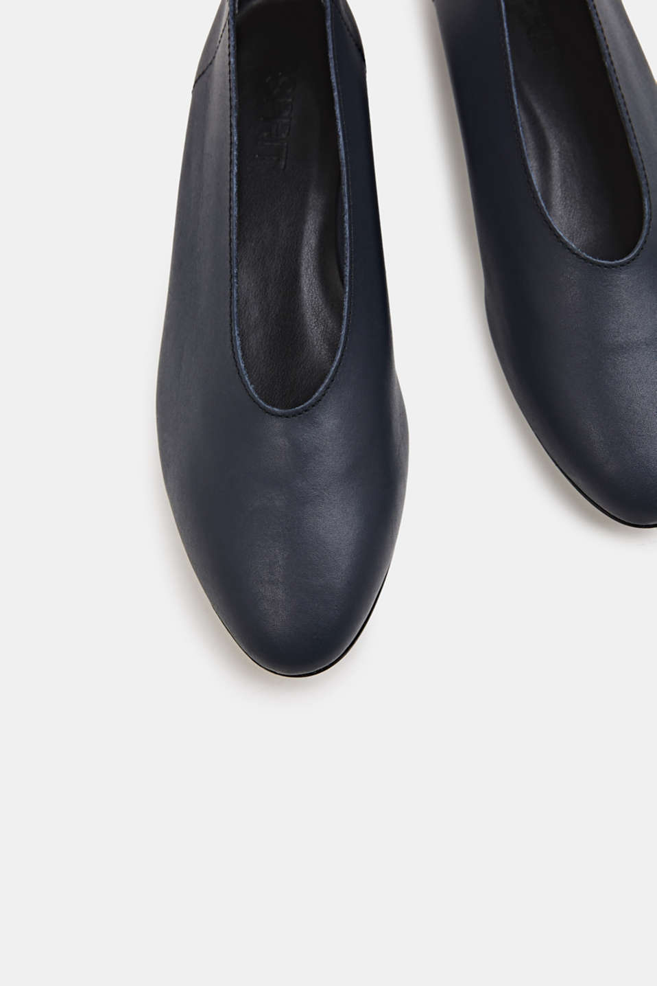Leather ballerinas, NAVY, detail image number 1