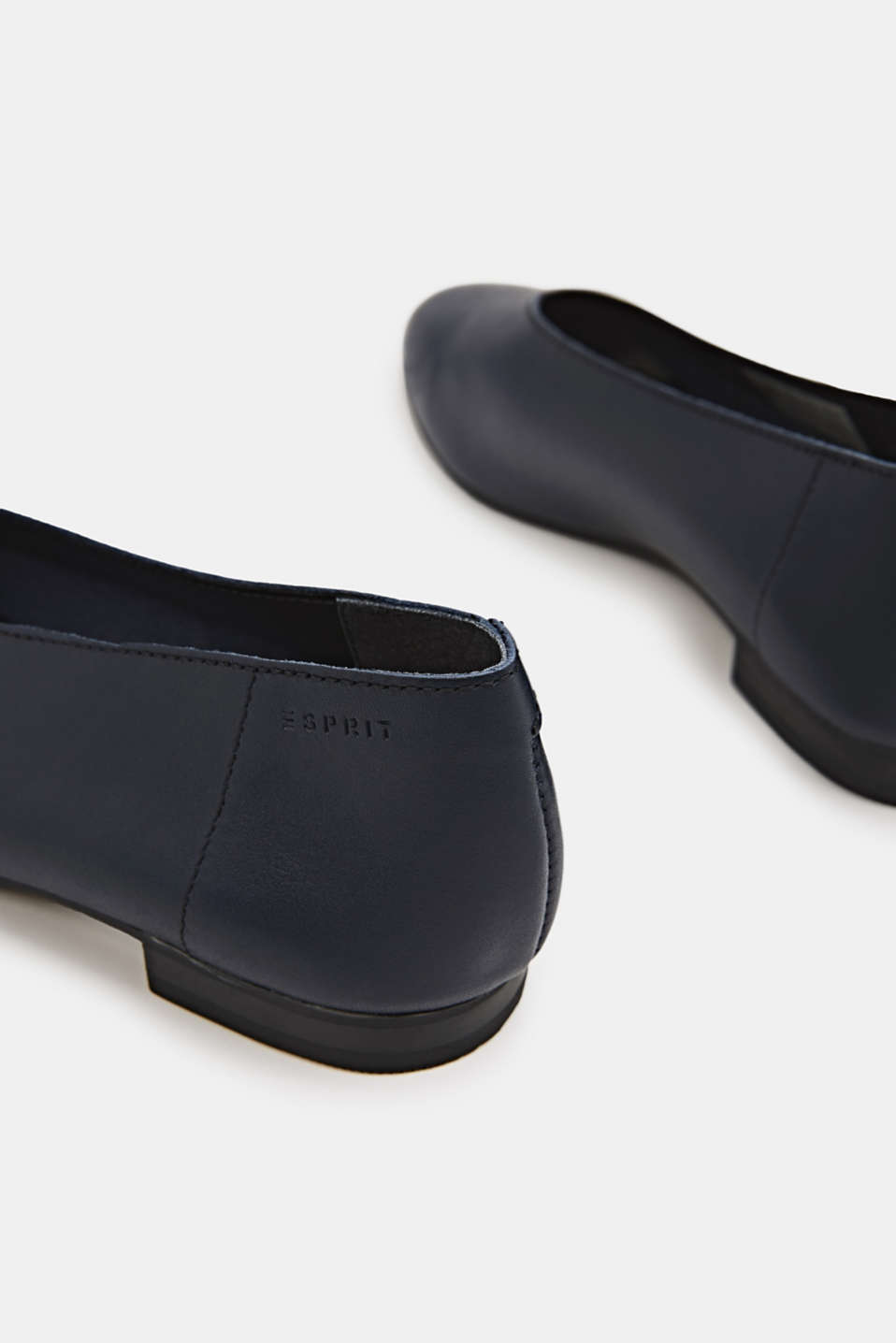 Leather ballerinas, NAVY, detail image number 4