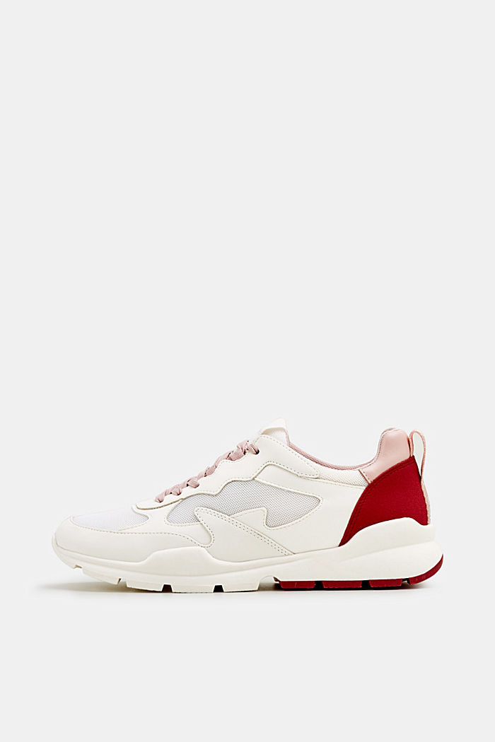 Sneakers con mix di materiali, WHITE, detail image number 0