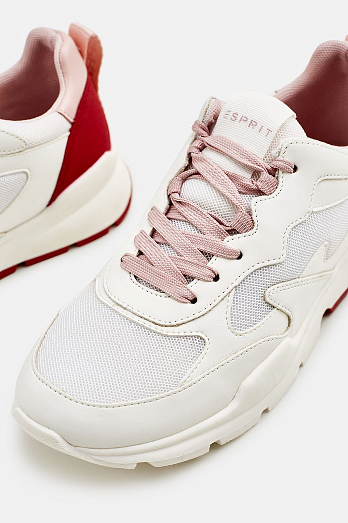 Sneakers con mix di materiali, WHITE, detail image number 3