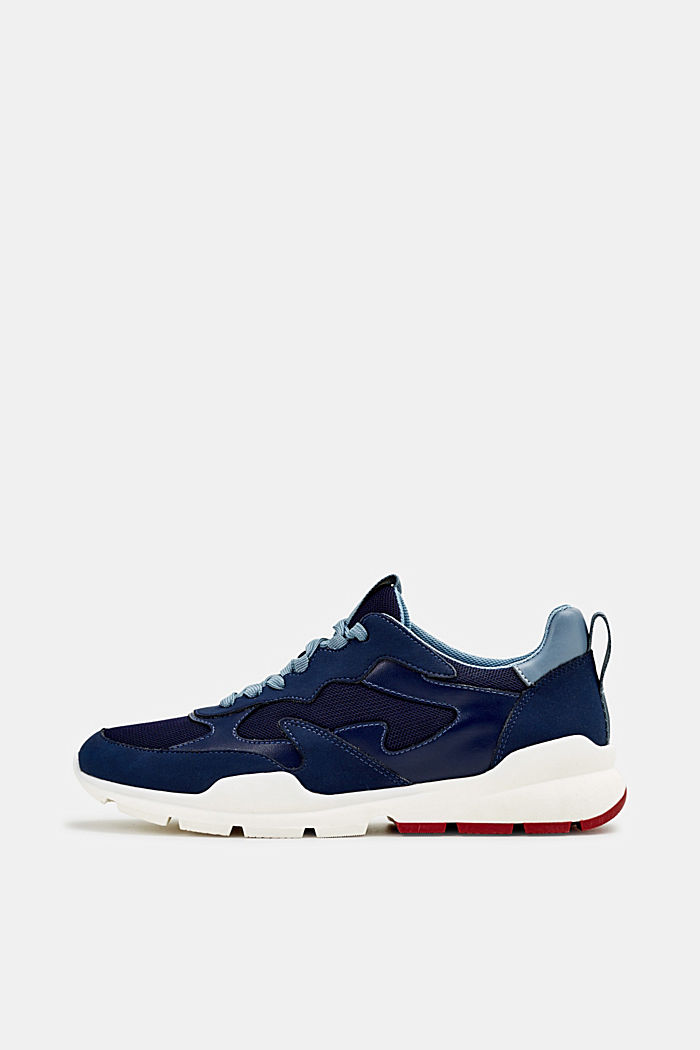 Trainers in a material mix, NAVY, detail image number 0
