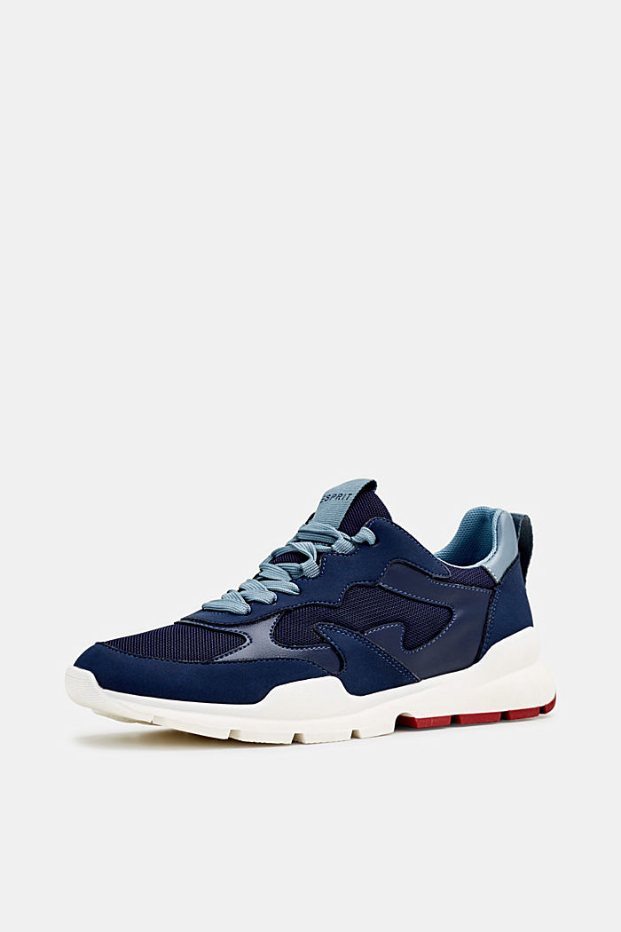 Trainers in a material mix, NAVY, detail image number 1