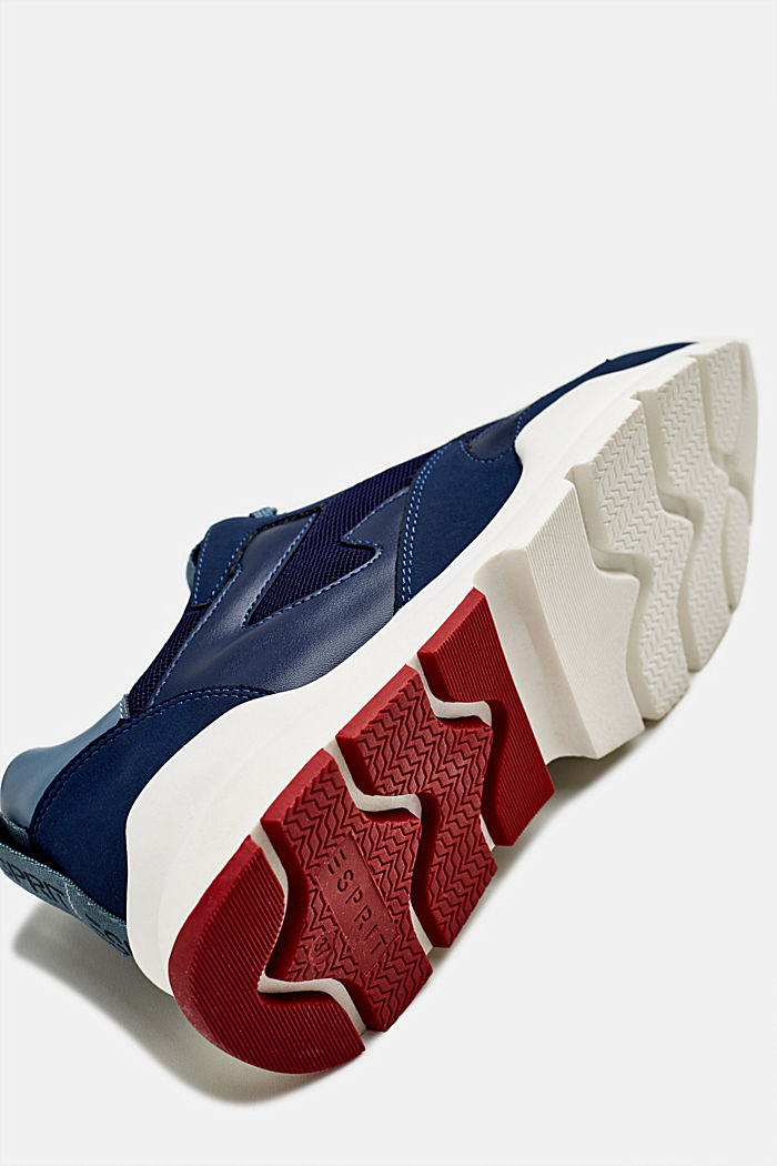 Trainers in a material mix, NAVY, detail image number 3