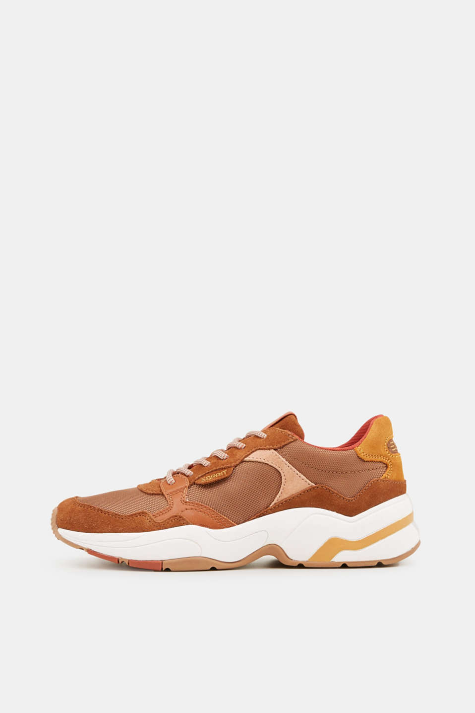 Trainers with leather details, RUST BROWN 4, detail image number 0