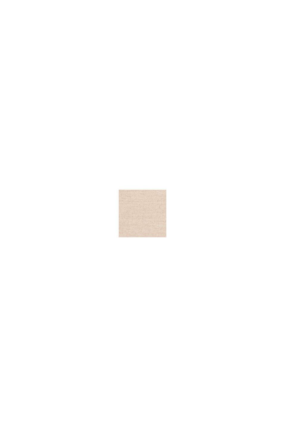 Culottebyxa i flanell med bred linning, LIGHT TAUPE, swatch