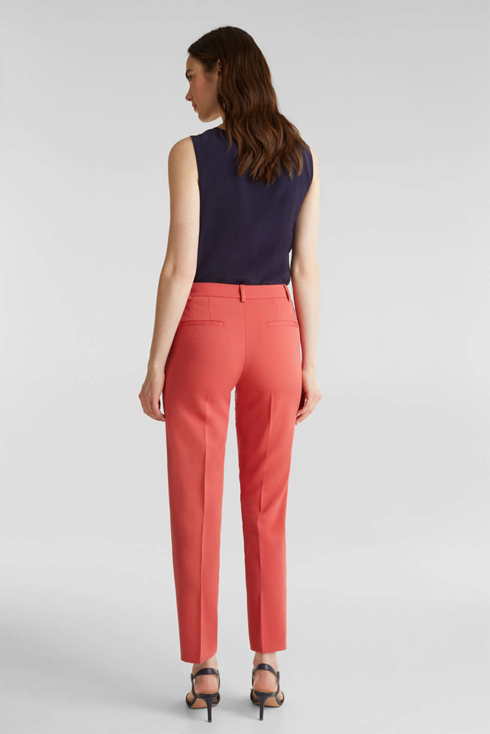 SPRING TWILL Mix + Match stretch trousers, TERRACOTTA, detail image number 3