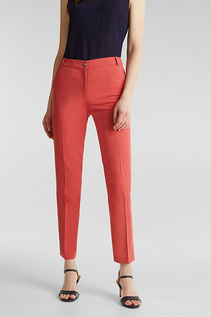 SPRING TWILL Mix + Match stretch trousers, TERRACOTTA, detail image number 5