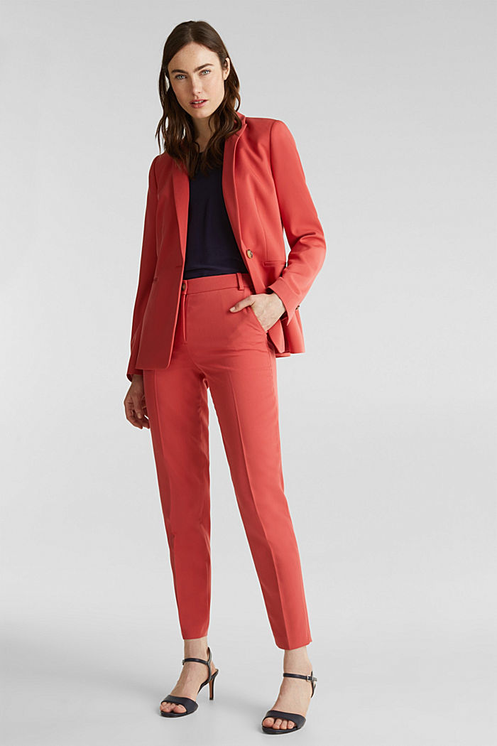 SPRING TWILL Mix + Match stretch trousers, TERRACOTTA, detail image number 1