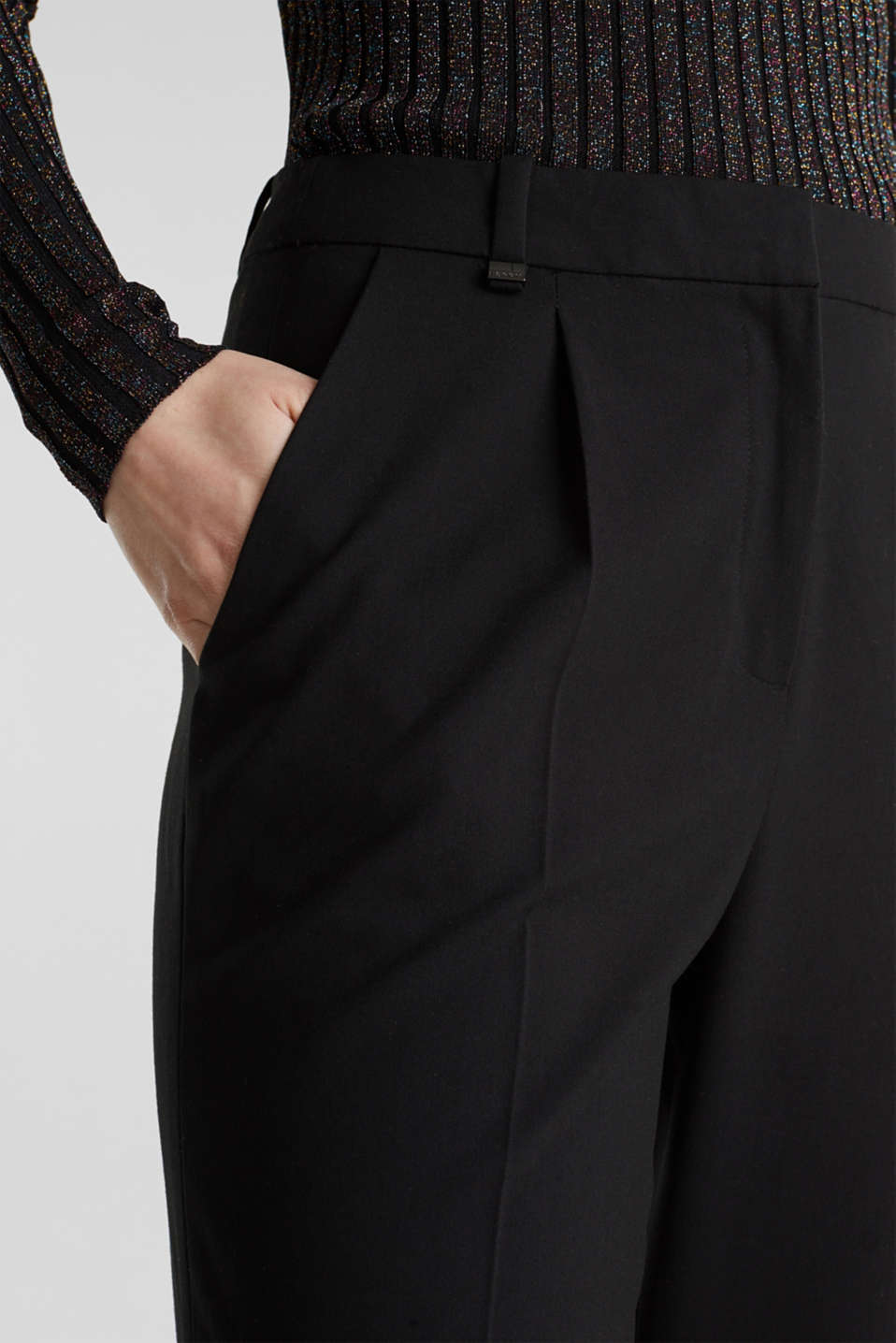 PURE BUSINESS mix + match trousers, BLACK, detail image number 2