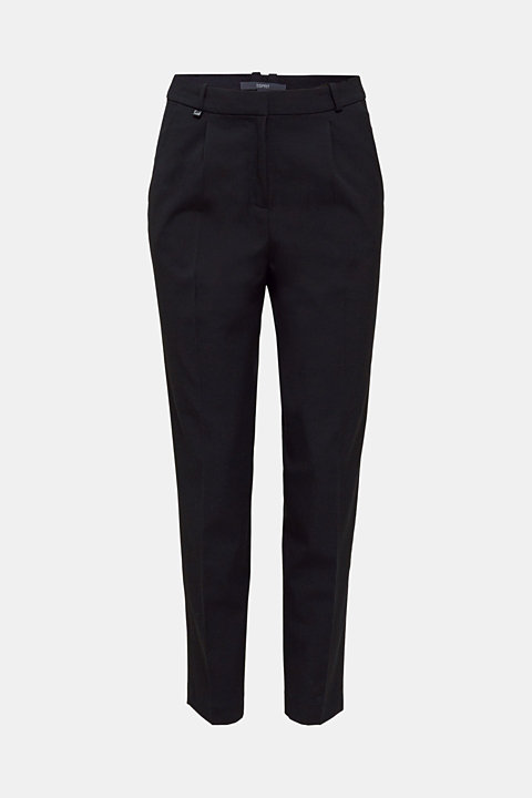 PURE BUSINESS stretch trousers with waist pleats