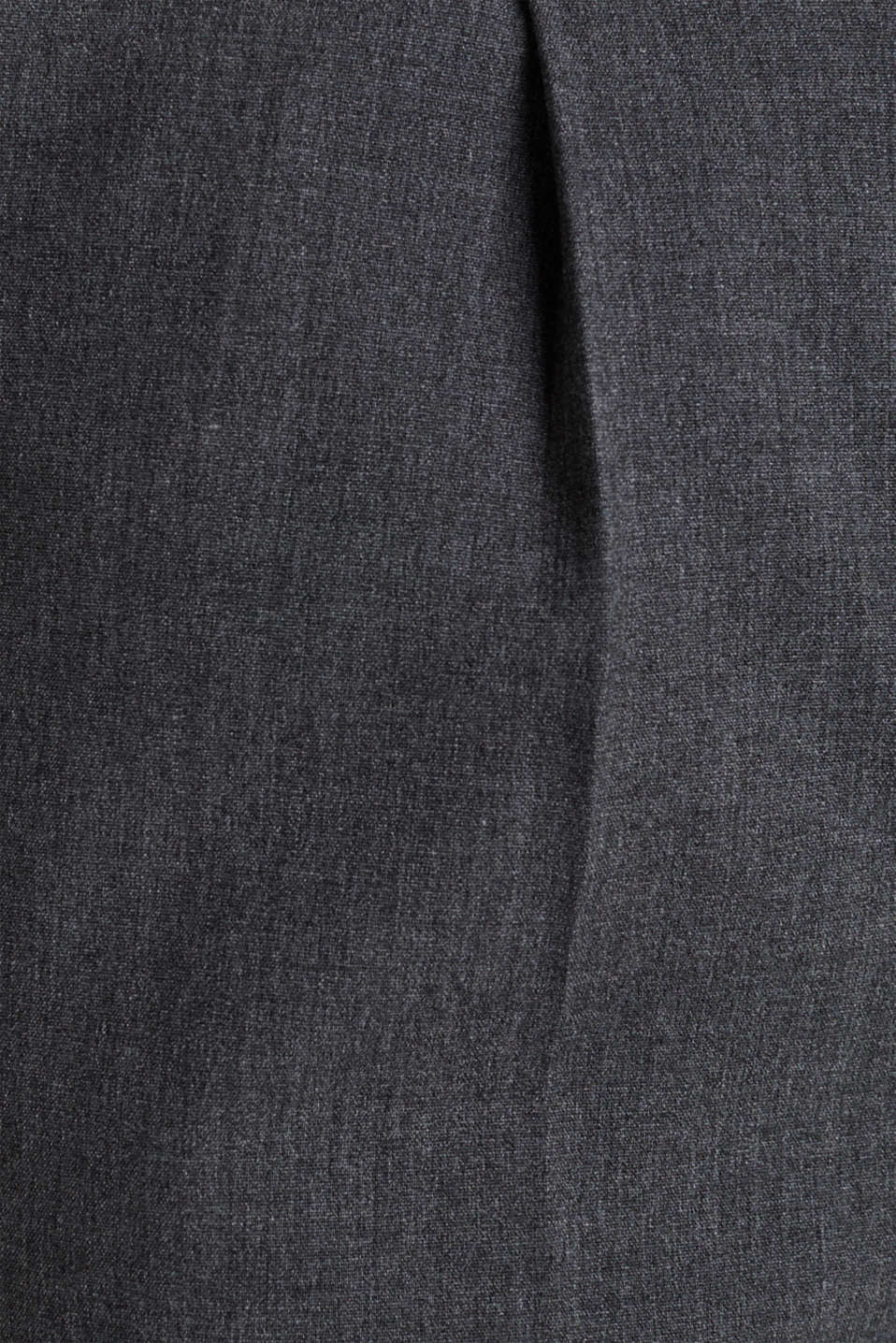 PURE BUSINESS stretch trousers with waist pleats, MEDIUM GREY 5, detail image number 4