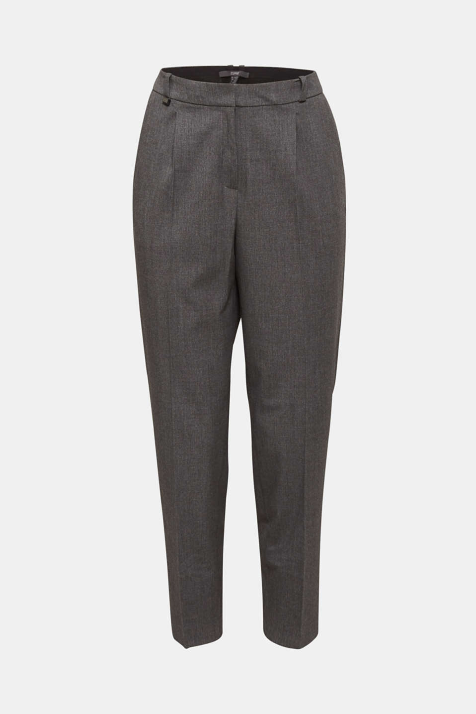 PURE BUSINESS stretch trousers with waist pleats, MEDIUM GREY 5, detail image number 6