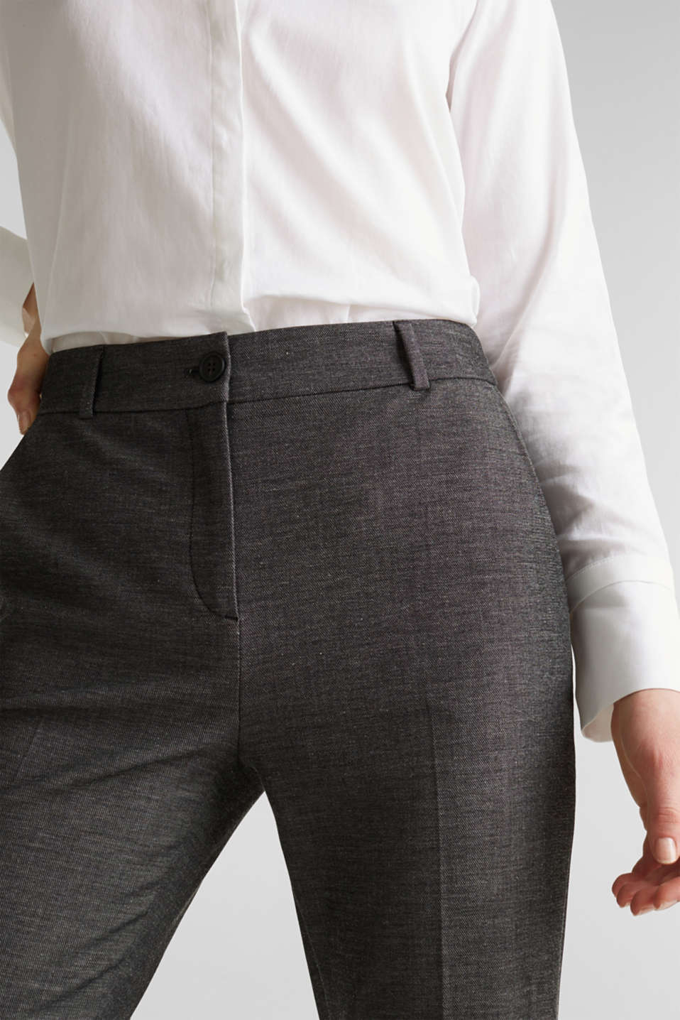 Pants woven, DARK GREY 5, detail image number 2