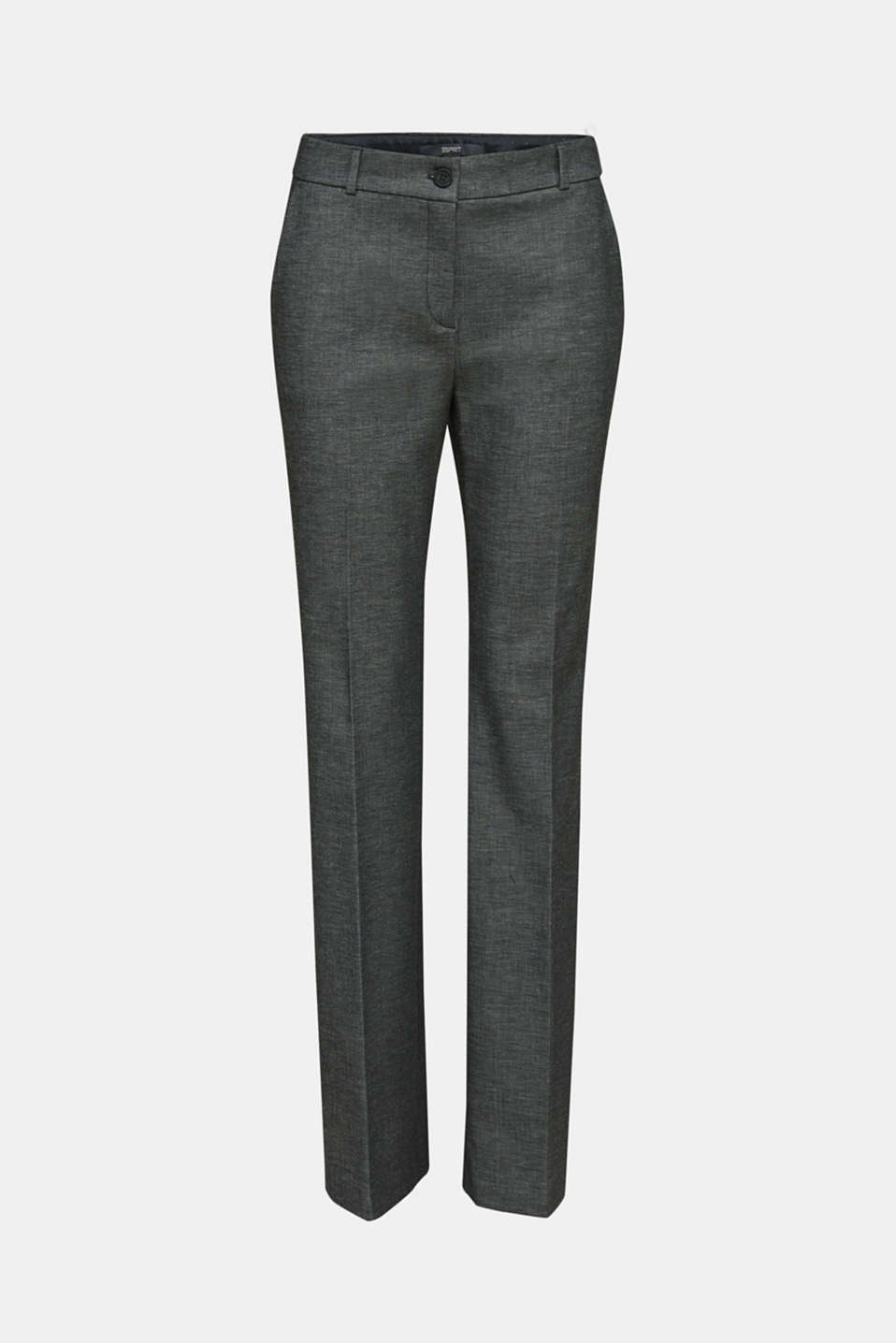SHINY TEXTURE mix + match stretch trousers, DARK GREY 5, detail image number 7