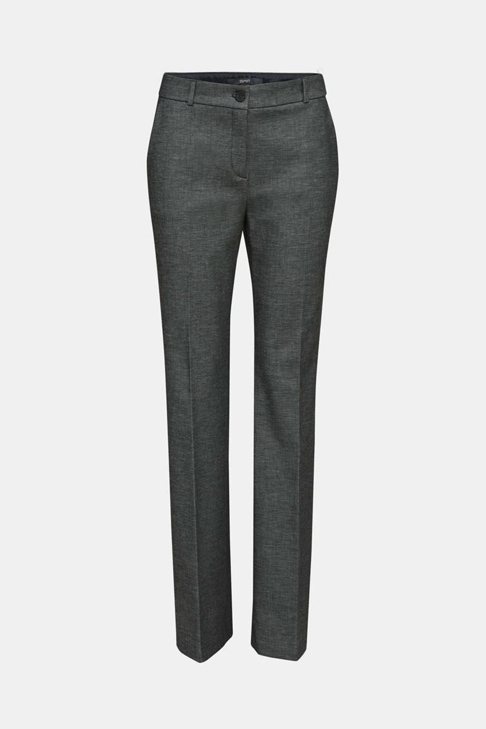 Pants woven, DARK GREY 5, detail image number 7