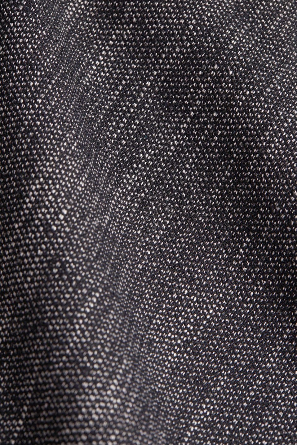 A-line skirt in a salt and pepper look, BLACK 2, detail image number 4