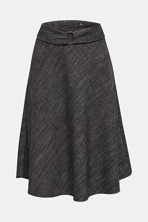 A-line skirt in a salt and pepper look