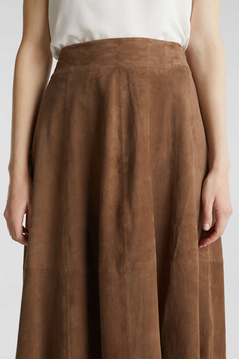 Skirts leather, TAUPE, detail image number 2