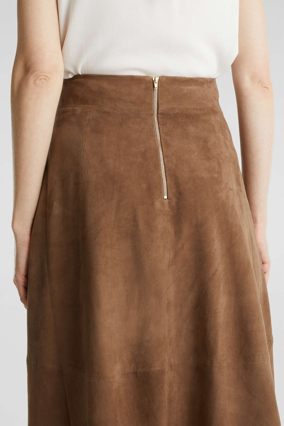Skirts leather, TAUPE, detail image number 5