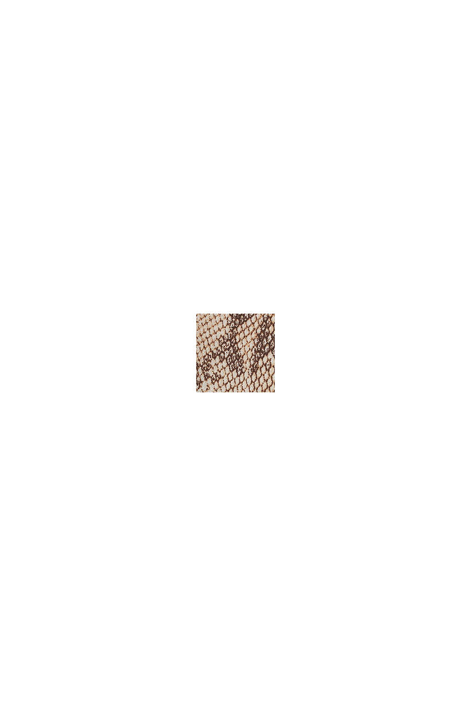 Chiffon rok met slangenprint, LIGHT TAUPE, swatch