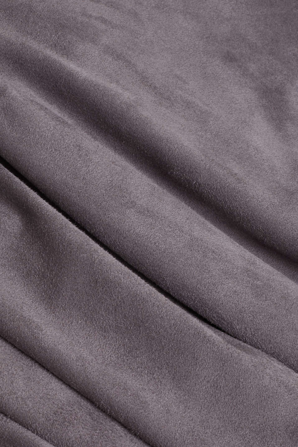 Faux leather skirt, vegan, TAUPE, detail image number 4