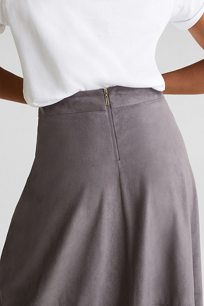 Faux leather skirt, vegan, TAUPE, detail image number 5