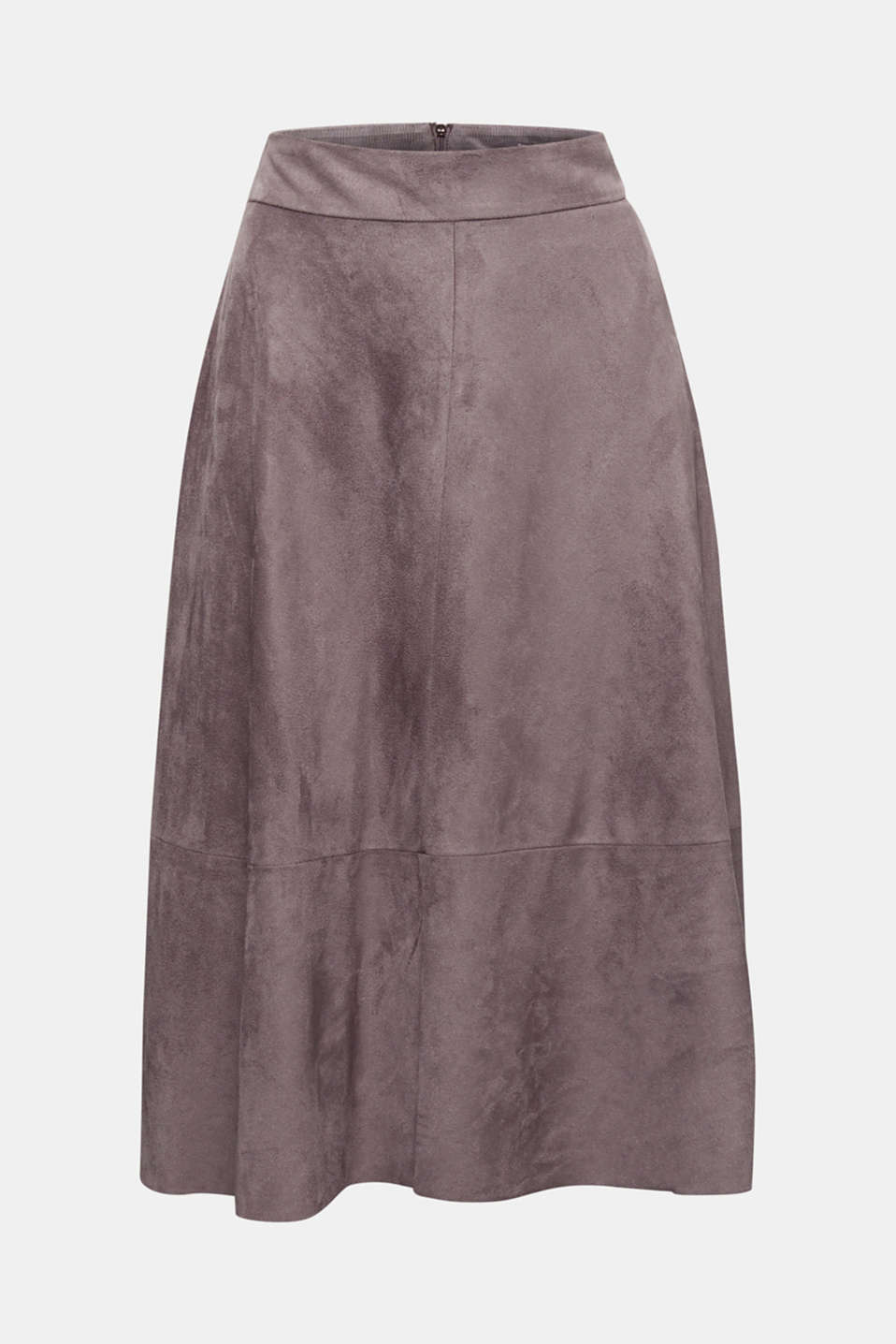 Faux leather skirt, vegan, TAUPE, detail image number 6