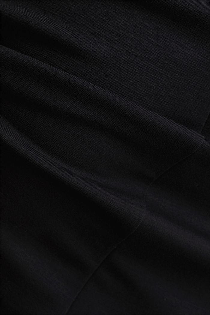 Hemdblusen-Kleid aus Jersey-Stretch, BLACK, detail image number 4