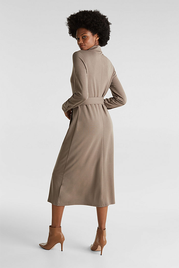 Stretch jersey shirt dress, TAUPE, detail image number 2