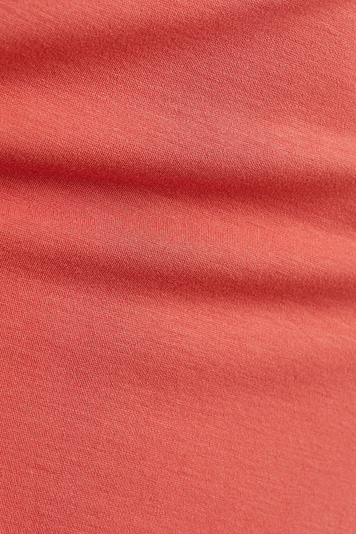 Hemdblusen-Kleid aus Jersey-Stretch, TERRACOTTA, detail image number 4