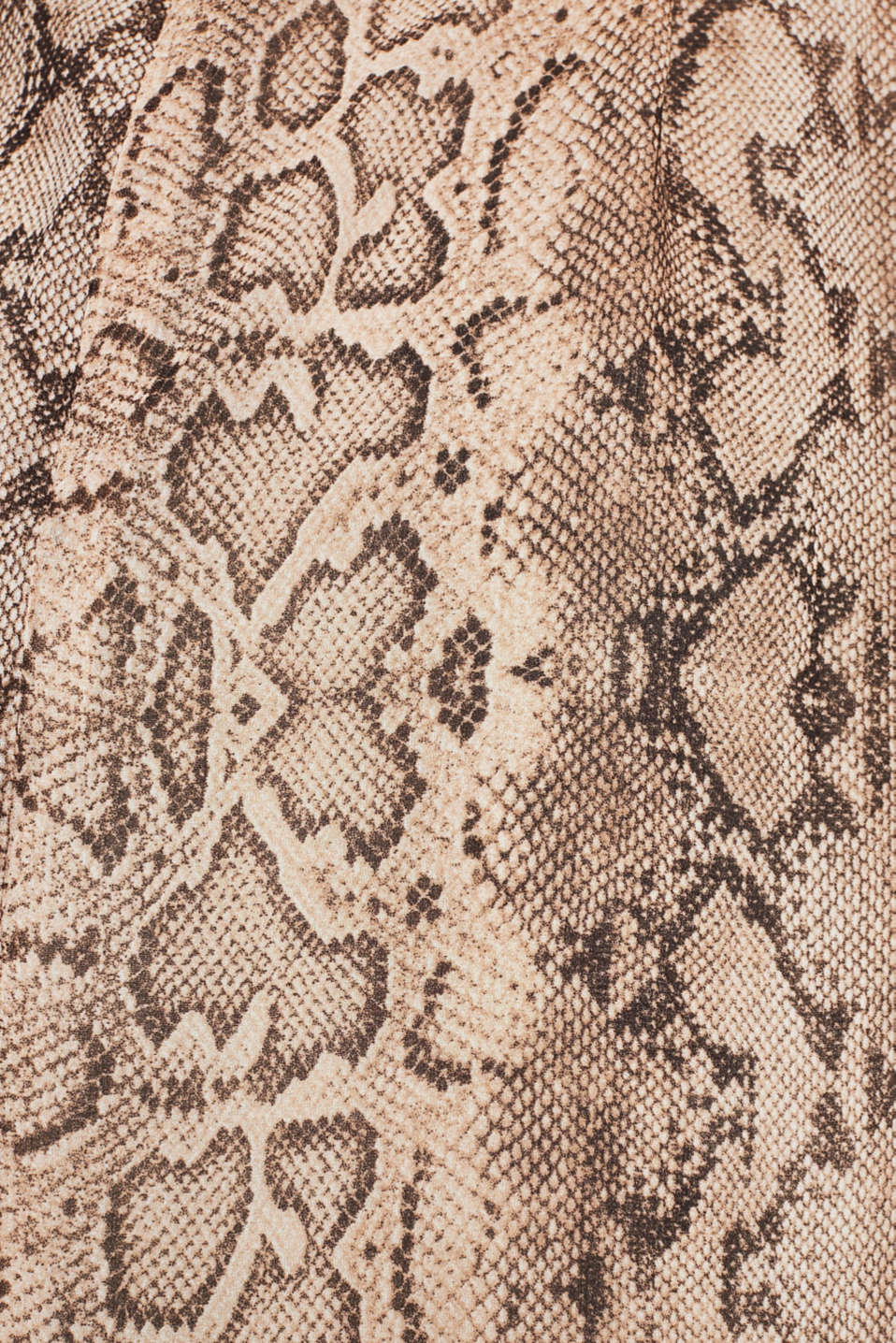Chiffon dress with a snakeskin print and belt, LIGHT TAUPE 4, detail image number 4