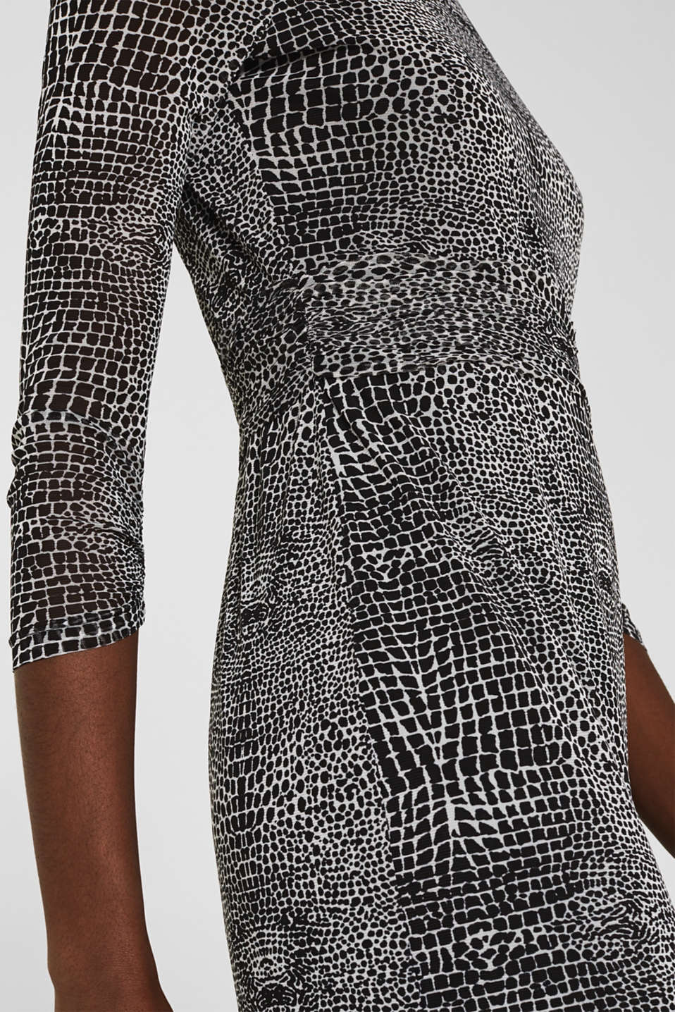 Mesh dress with an all-over print, OFF WHITE 4, detail image number 3