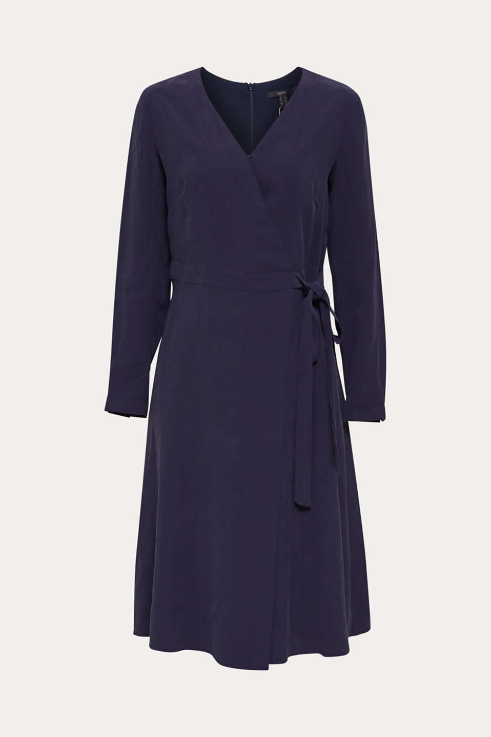 Midi dress with a wrap-over effect, NAVY, detail image number 6