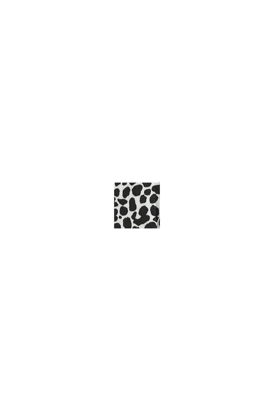 Print-Bluse mit Schmuck-Detail, OFF WHITE, swatch