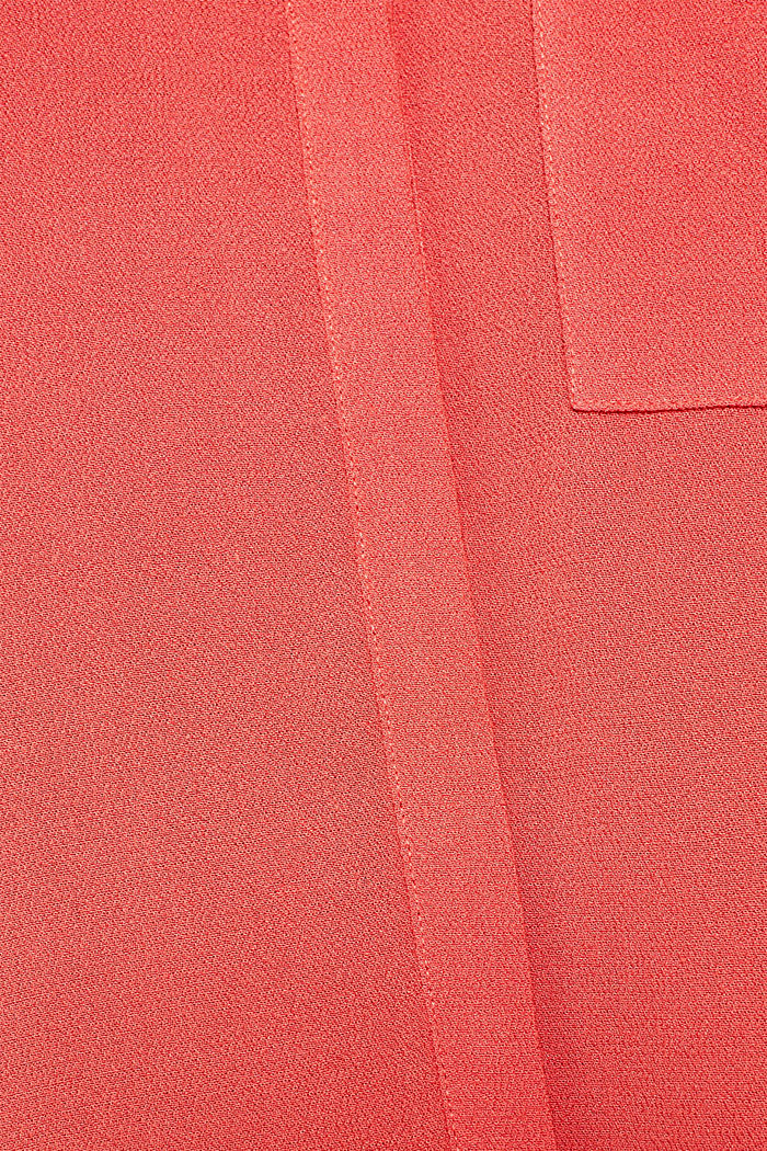 Long blouse made of fine crêpe, TERRACOTTA, detail image number 4