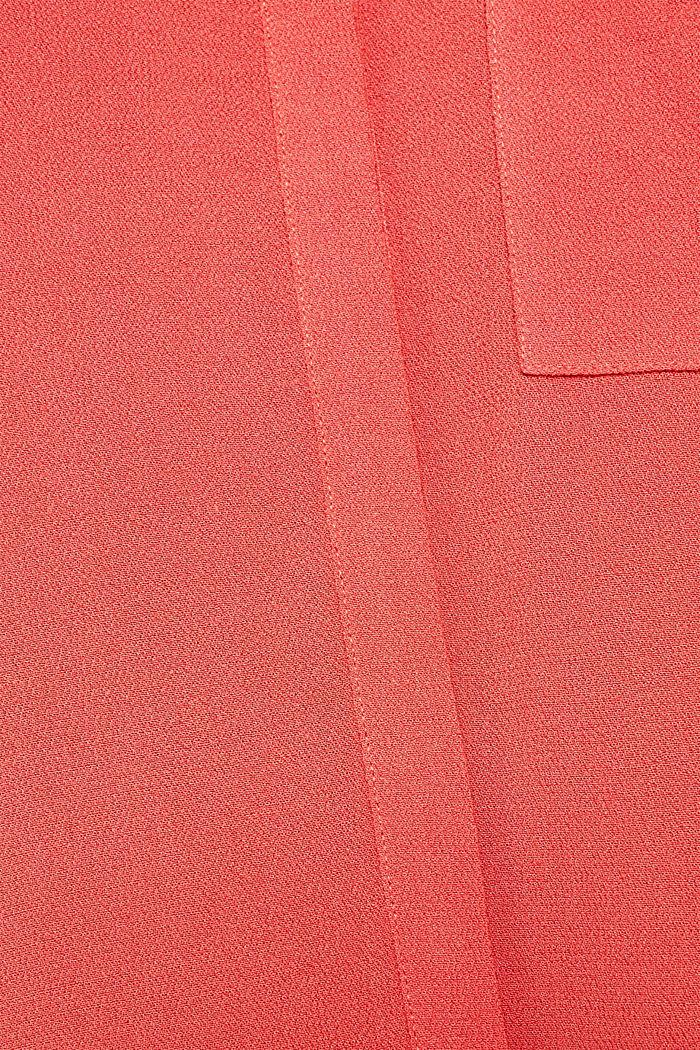 Long-Bluse aus feinem Crêpe, TERRACOTTA, detail image number 4