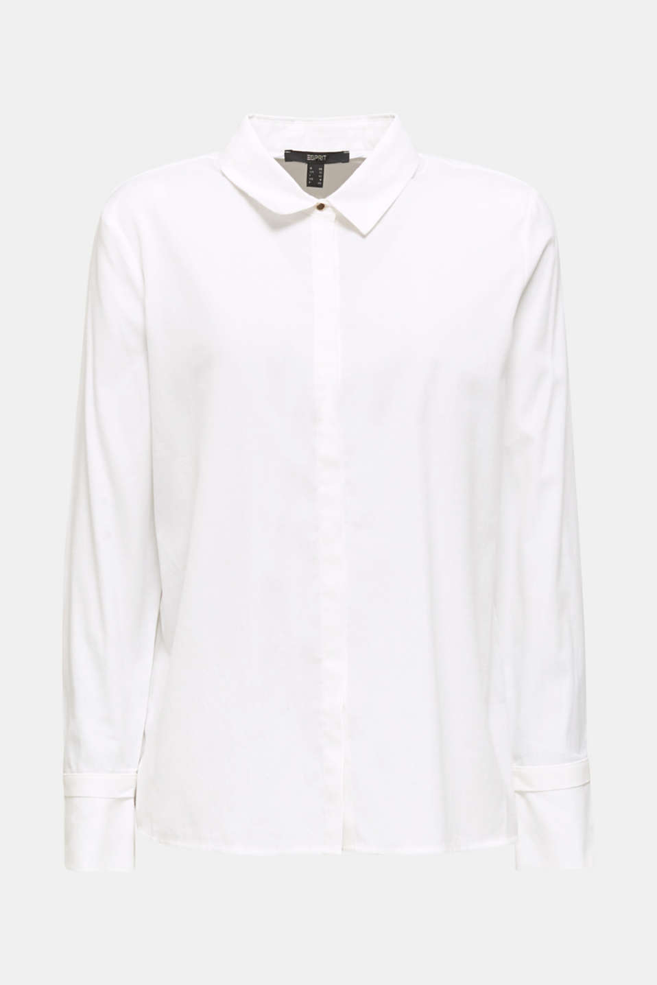Crêpe blouse with elegant details, 100% cotton, OFF WHITE, detail image number 7
