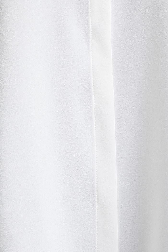 Crêpe-Bluse mit Kontrast-Paspelierungen, OFF WHITE, detail image number 4