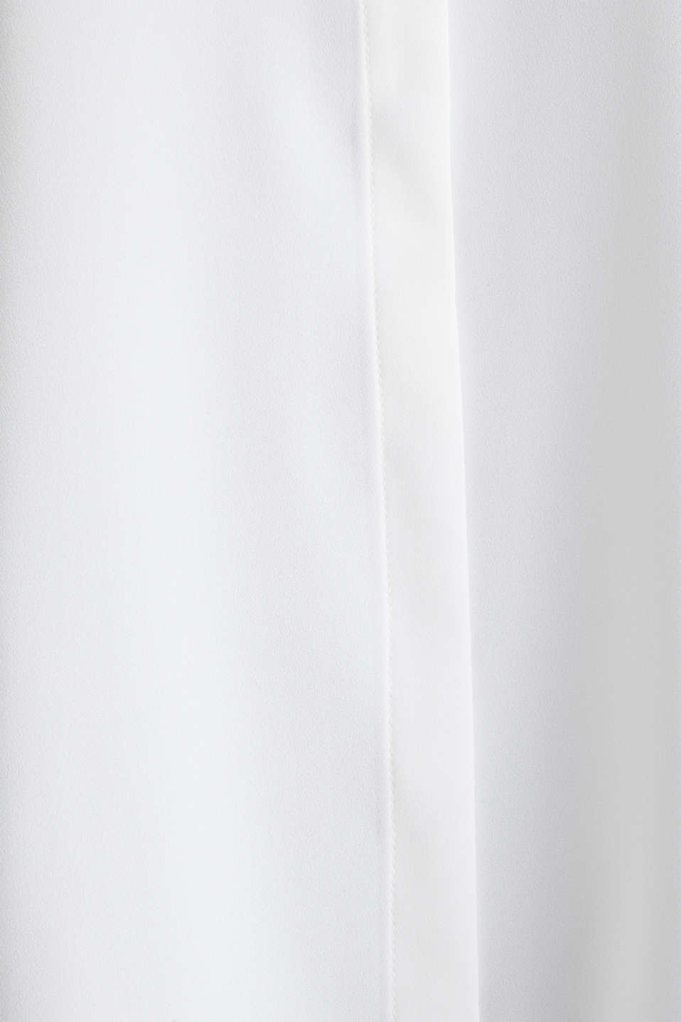 Crêpe blouse with contrast piping, OFF WHITE, detail image number 4